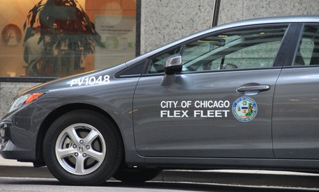 Chicago's city government deployed ZipCar car-sharing technology for its Flex Fleet vehicles.