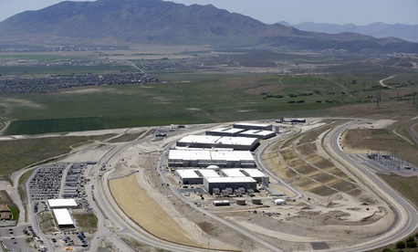 The National Security Agency's Utah Data Center in Bluffdale, Utah