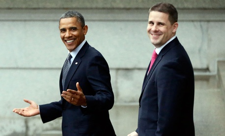 President Barack Obama, and senior adviser Dan Pfeiffer