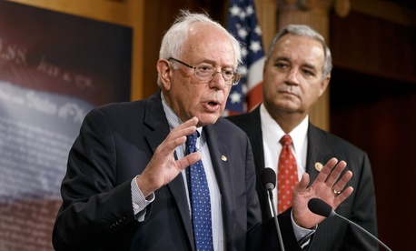 Sen. Bernie Sanders, I-Vt. (left), and Rep. Jeff Miller, R-Fla., unveiled the compromise Monday.