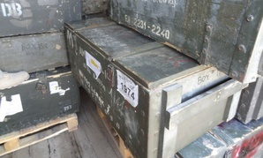 Crates of weapons for the Afghan National Security Forces.