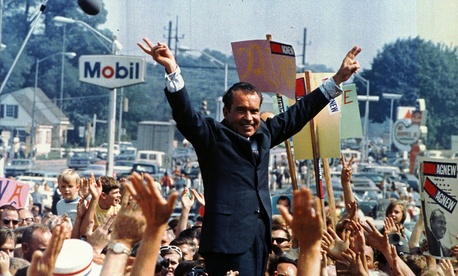 Richard Nixon campaigns in Philadelphia in 1968.