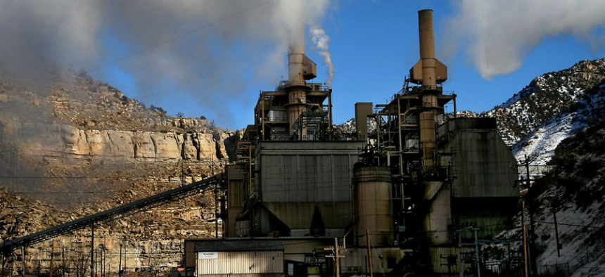 A coal-fired power plant near Price, Utah.