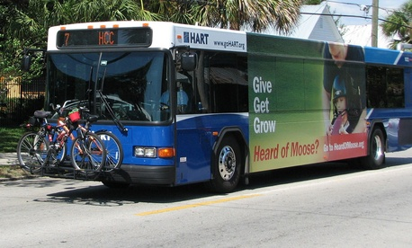 Tampa's HART buses were part of the study.