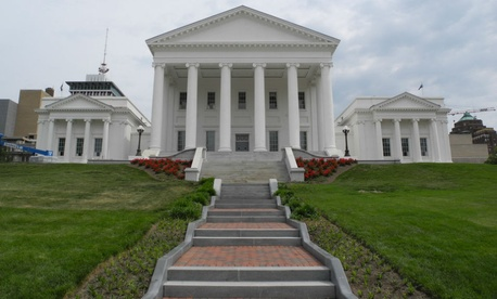 Virginia state capitol in Richmond.