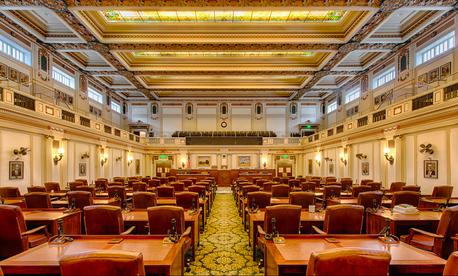 The Oklahoma House of Representatives chamber.