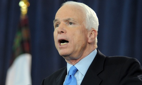 """We have to go in, and it's more than pin-prick airstrikes,"" Sen. John McCain , R-Ariz., said Thursday on Fox News."