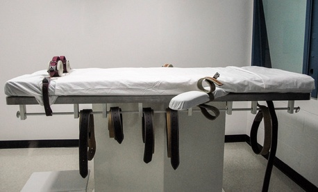 Nebraska's lethal injection chamber is housed at the State Penitentiary in Lincoln, Neb.