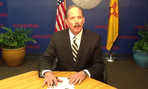 Albuquerque Mayor Richard Berry delivers his veto message via YouTube.