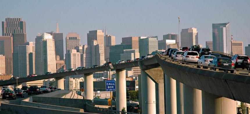 San Francisco commuter traffic.