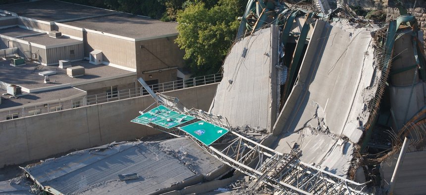 I-35W bridge collapse in Minneapolis