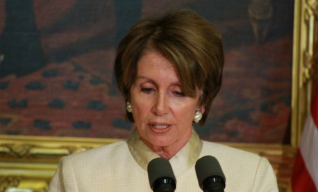 Minority Leader Nancy Pelosi criticized Republicans for leaving early.