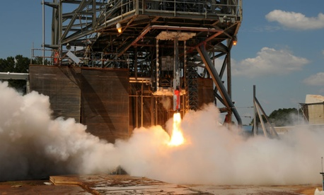 NASA engineers run tests in August to learn how loud the Space Launch System vehicle will be during liftoff.