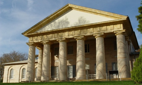 Arlington House, which recently received a $12.35 million gift to restore its weakened structure.