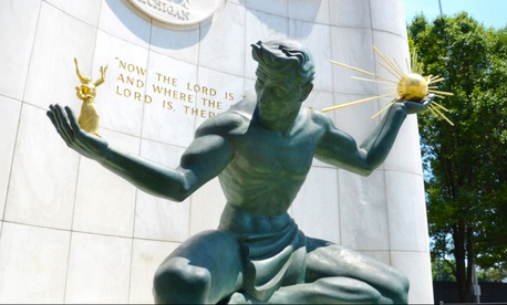 The Spirit of Detroit statue was created in 1958.