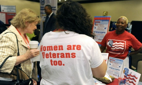 Women attend a veterans training summit in Washington.