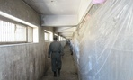 A hallway in the half-renovated Pol-i-Charkhi Prison.
