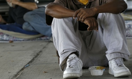 Homeless in New Orleans in 2014.