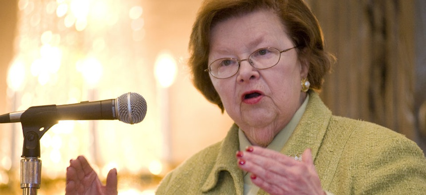 Sen. Barbara Mikulski, D-Md., defended federal employees during a hearing on the Obama administration's request for more Ebola funding.