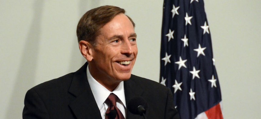 Retired Gen. David Petraeus, giving remarks to CIA employees in 2011.