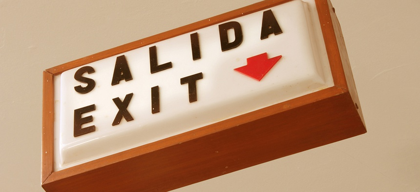 """""""Salida"""" means """"exit"""" in Spanish."""