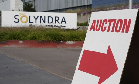 Solyndra received a one half billion dollar loan guarantee from the government before filing for bankruptcy in Sept. 2011.
