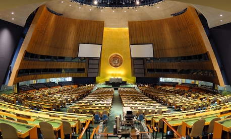 The General Hall is the largest room at the UN.