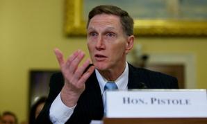TSA chief John Pistole testifies on Capitol Hill.