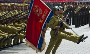 North Korean soldiers march at the military parade in 2013 in Pyongyang.