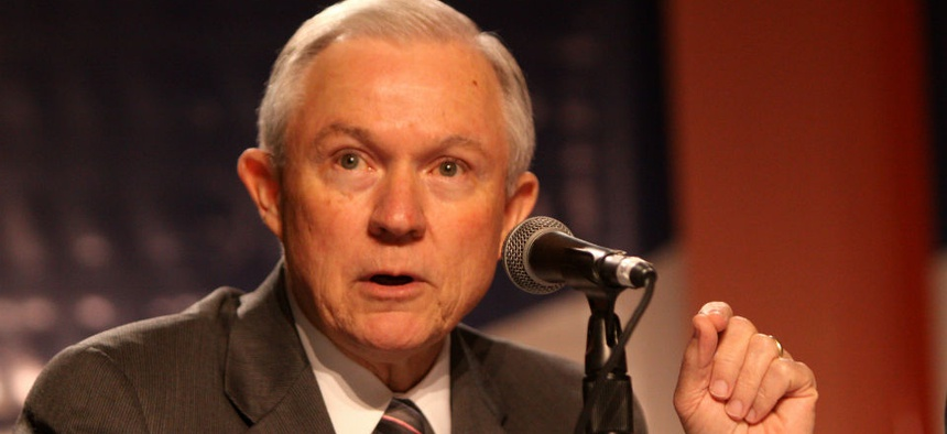 Sen. Jeff Sessions, R-Ala., is critical of Obama's immigration policies but says DHS must be funded.