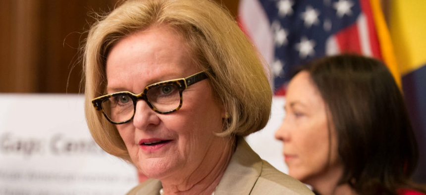 """There are too many cooks in the kitchen. Someone lets [the permit application] sit on their desk and forgets it, "" said Sen. Claire McCaskill, D-Mo."