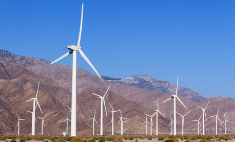 A wind farm near Palm Springs, California
