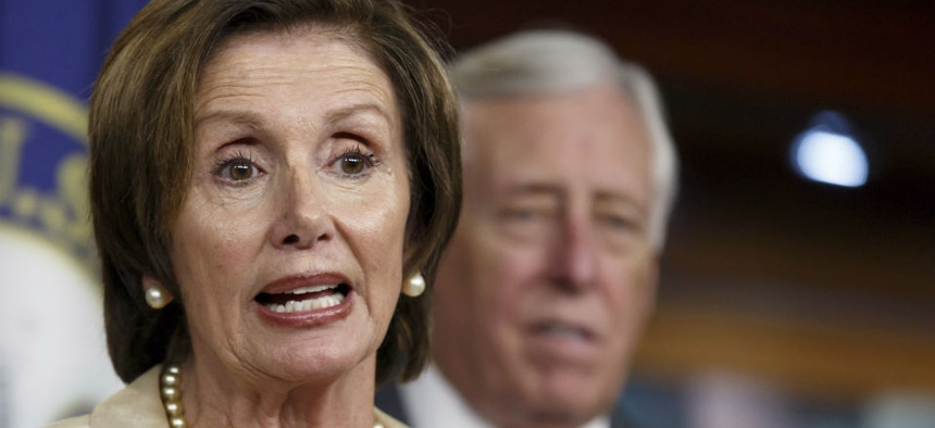 House Minority Leader Nancy Pelosi and House Minority Whip Steny Hoyer.