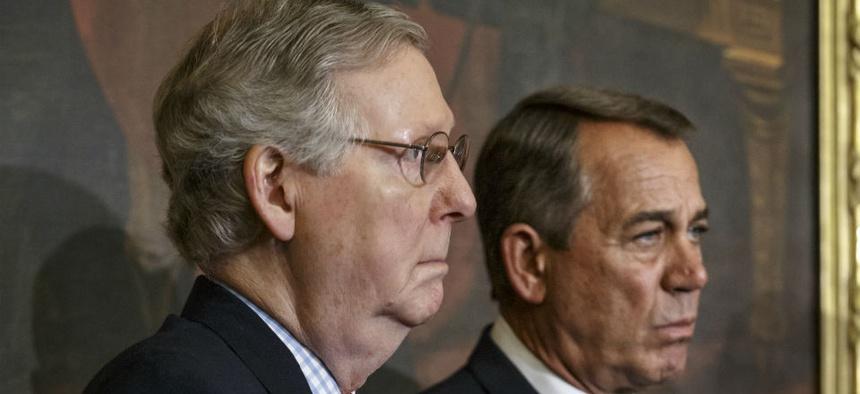 Senate Majority Leader Mitch McConnell (left) and House Speaker John Boehner.
