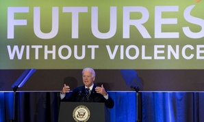"""Remember, you doctors, you nurses, you health care providers,"" that ""years ago, an insurance company could deny health coverage for a woman victim of violence because it was a preexisting condition,"" Biden said."