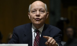 IRS chief John Koskinen testifies on Capitol Hill about the agency's budget.