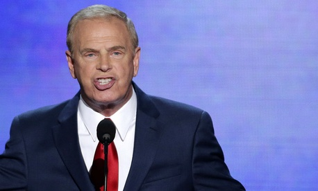 Ted Strickland speaks at the Democratic convention in 2012.
