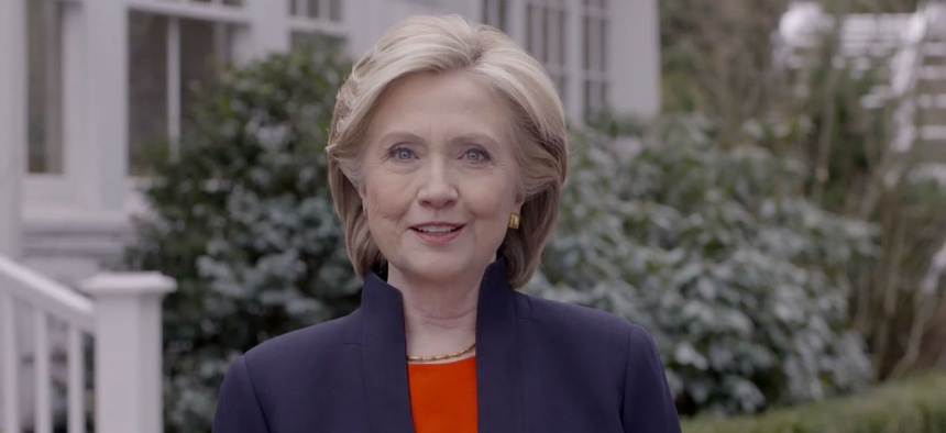 Hillary Clinton announced her campaign for president in a video message April 12.
