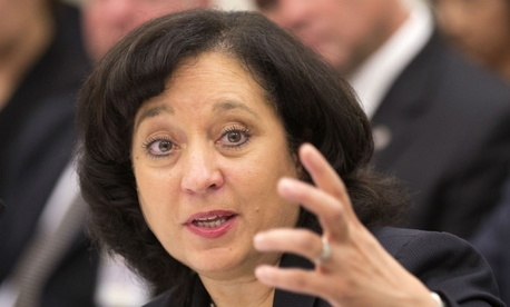 DEA chief Michelle Leonhart said civil service statutes prevent her from interfering with the disciplinary process.