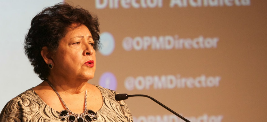 """""""Let them know you are personally committed to hearing what they have to say ,"""" OPM Director Katherine Archuleta told agency leaders."""