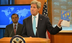 Secretary of State John Kerry releases the 2015 Quadrennial Diplomacy and Development Review on Tuesday, along with Special Representative for the QDDR Tom Perriello.