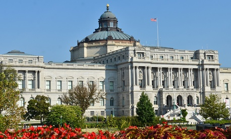 The U.S. Copyright Office has been part of the Library of Congress, seen above, since 1897.