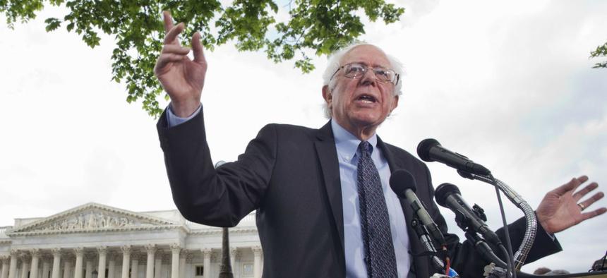Sen. Bernie Sanders, I Vt., talks about his agenda in running for president.