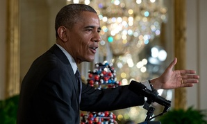 Obama spoke on precision drugs in January at the White House.