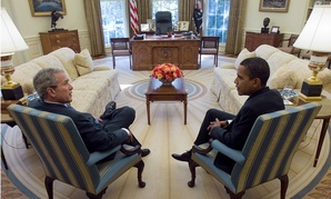 President George W. Bush with President-elect Obama in 2008.