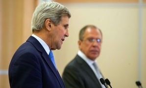 John Kerry addresses reporters as he and Russian Foreign Minister Sergey Lavrov held a news conference in Sochi Tuesday.
