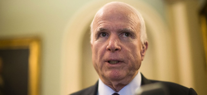 Senate Armed Services Committee Chairman John McCain, R-Ariz., believes the Pentagon's staff is bloated.