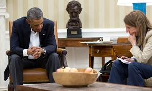 Obama and Burwell meet in the White House in October.