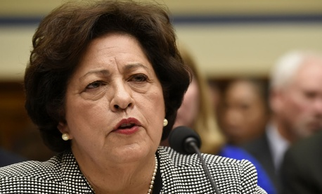 OPM chief Katherine Archuleta testifies before the House Oversight and Government Reform Committee.