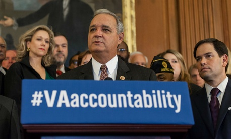 """Rep. Jeff Miller, R-Fla., introduced a bill that would """"provide bad actors with potent new tools for silencing dissent in their ranks,"""" according to AFGE."""